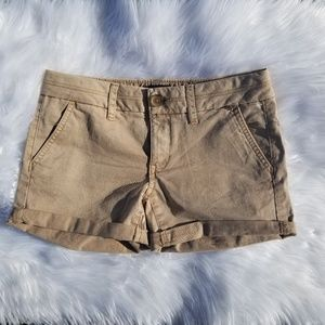 American Eagle 》 Tan Chino Midi Shorts